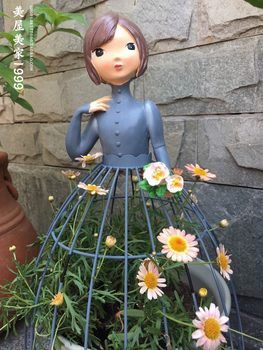 Shipping special offer creative wrought iron beautiful doll doll ornaments flower gardening groceries home decorations gifts