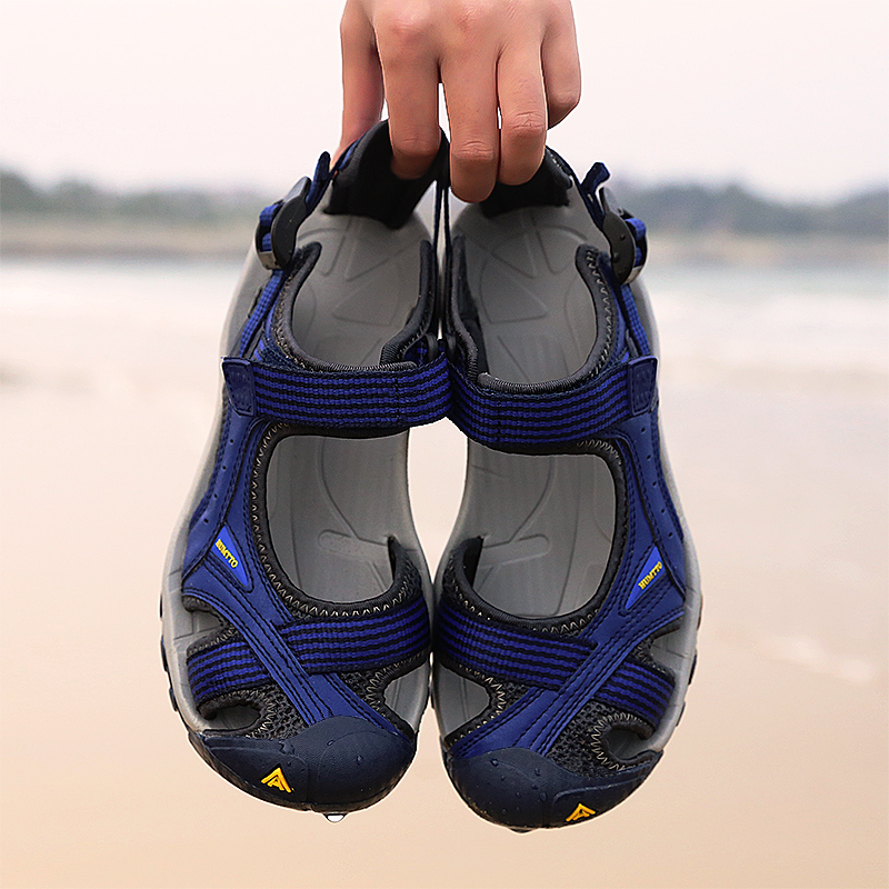 Жестокий способ на открытом воздухе сандалии мужчина песчаный пляж обувной женщина брод вода новолуние ручей восхождение противоскользящий износоустойчивый чалма движение сандалии Вс ручей обувной