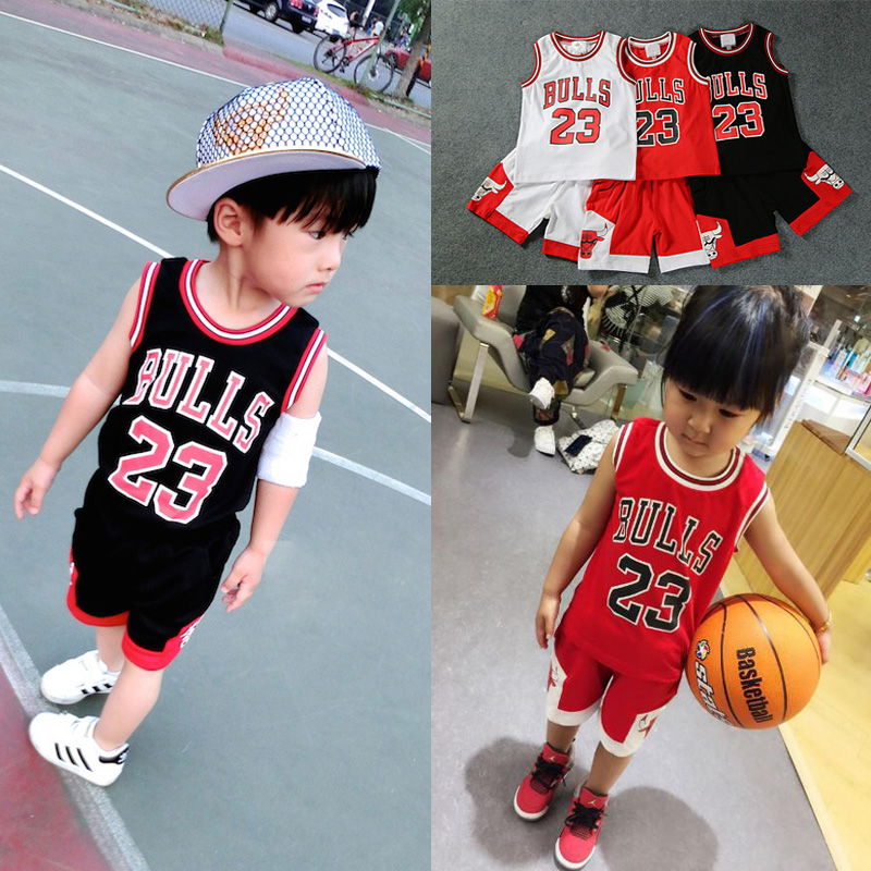 d2fb1d19f5e7 Children s basketball clothing suit boys and girls baby jerseys primary  school training clothes men s summer kindergarten performance clothing