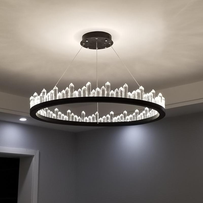 轻奢后现代卧室水晶个性灯现代简约创意灯饰灯具网红吊灯北欧客厅