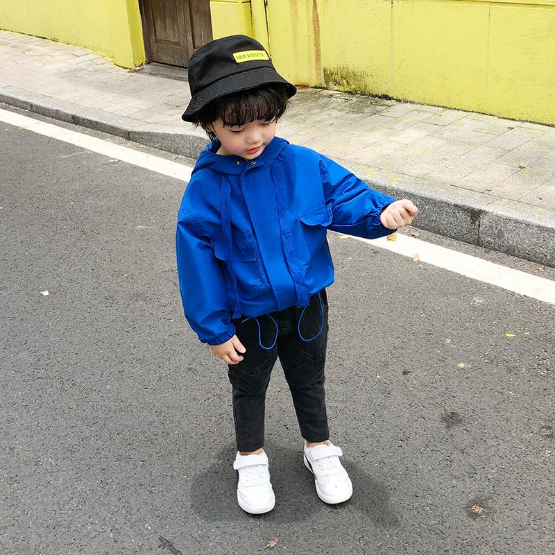 儿童男小童春秋装1-3-5岁外套风衣男宝宝冲锋衣潮韩男孩洋气外套