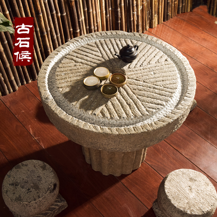 Stone Tea Tray Stone Garden Stone Table Tea Table Old Stone Stone Trough  Water Landscape Old Stone Tea Sea Stone Stool Tea Table