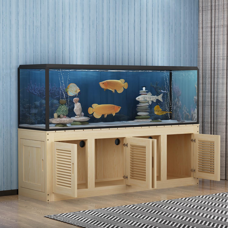Solid Wood Fish Tank Bottom Cabinet