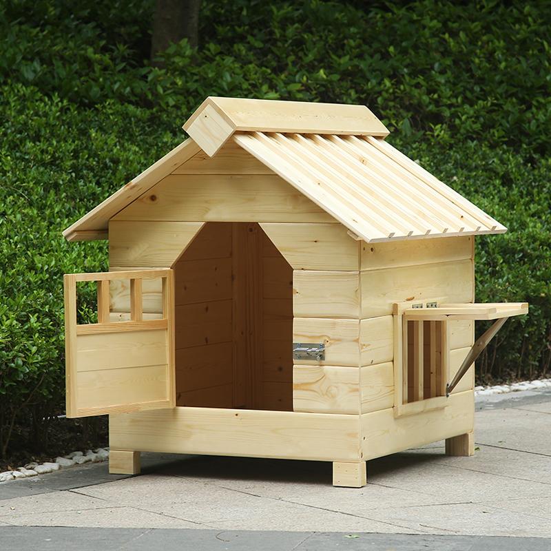 Лежанка для животных Собака дом на открытом воздухе Водонепроницаемый деревянный интерьер в маленькой большой собаки питомника золотистый Ретривер деревянная псарня собаки, дом любимчика Тедди клетка