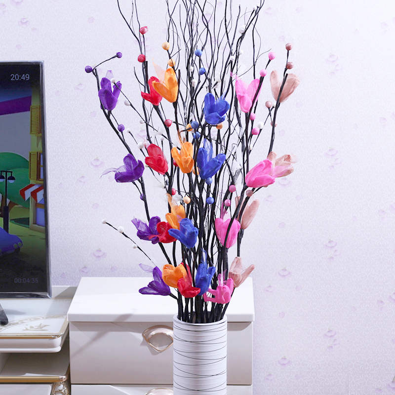 Floor dry bouquet plastic home large decorative flower insert fake ...