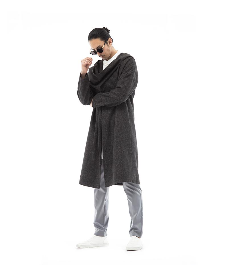 Sau khi áo len nam, mùa đông dài trùm đầu vai trên đầu gối, áo gió Trung Quốc, áo là đẹp trai