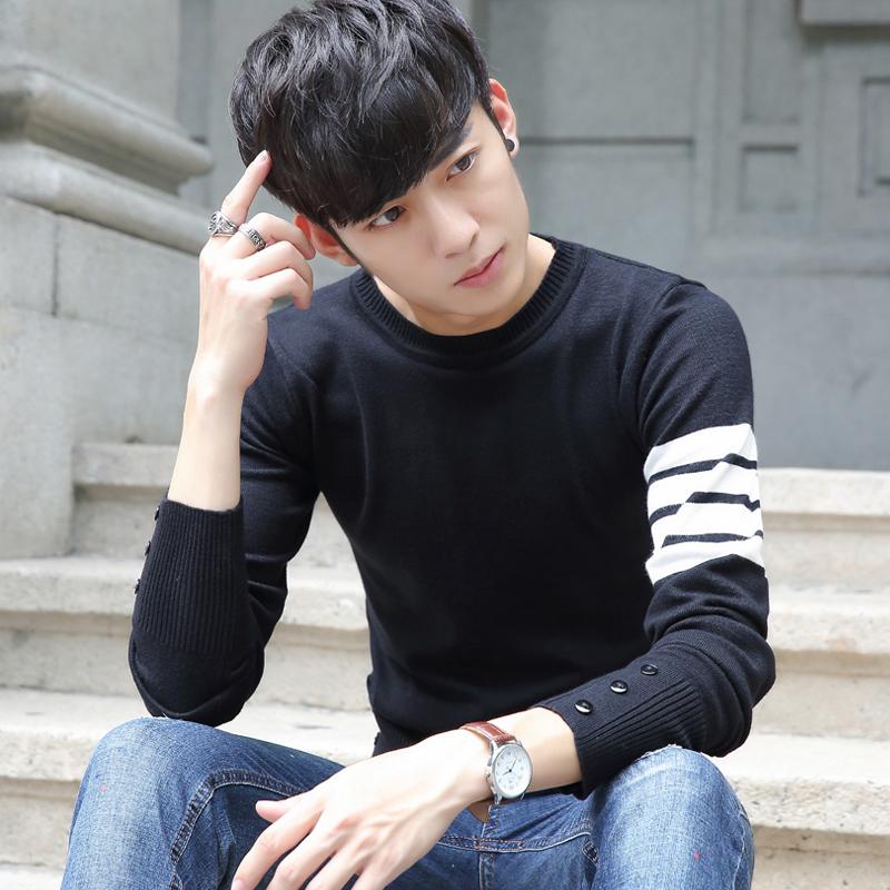韩版男装毛衣男2016秋装新款毛线衣 青少年学生男士针织衫外套潮