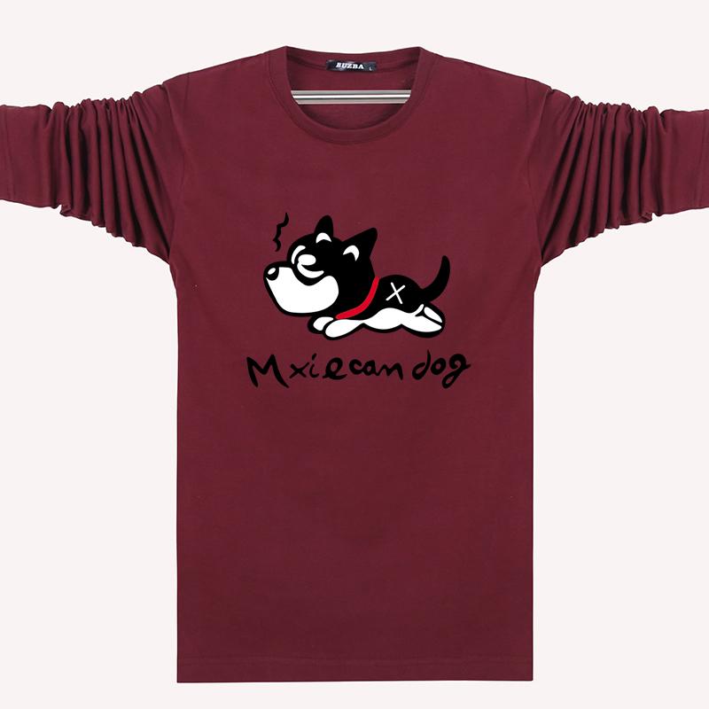 Đặc biệt hàng ngày dài tay T-Shirt nam cộng với phân bón XL cotton vòng cổ lỏng sinh viên thể thao giản dị đáy áo sơ mi áo thun tay dài nam