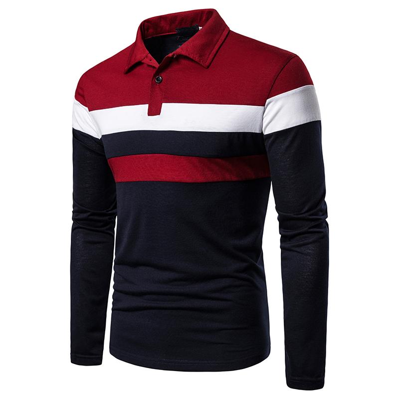 O1CN01F7UCdz1cmzocAe6Am !!282993644 Men's POLO Tri-Color Sweatshirt
