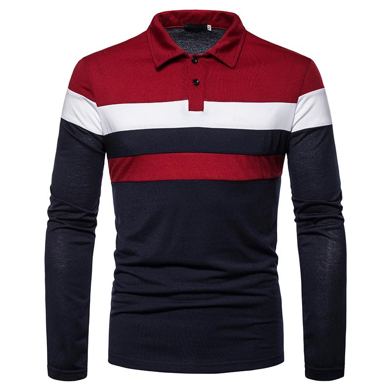O1CN01hHJdrW1cmzobwJyCc !!282993644 Men's POLO Tri-Color Sweatshirt