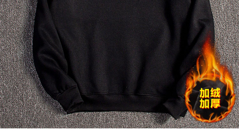 秋冬季欧洲站圆领冠军兔子卫衣长袖T恤男装加绒加厚潮牌宽松纯棉详细照片