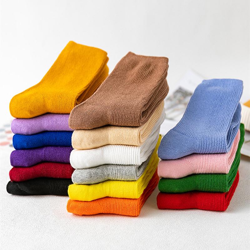 6双装韩版学院风堆堆袜中筒袜