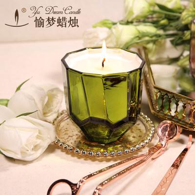 香薰蜡烛玻璃杯无烟精油香氛蜡烛礼品盒助眠蜡烛熏香大豆蜡烛
