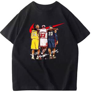 夏季篮球男女宽松詹姆斯纯棉短袖科比球队训练服库里欧文湖人t恤