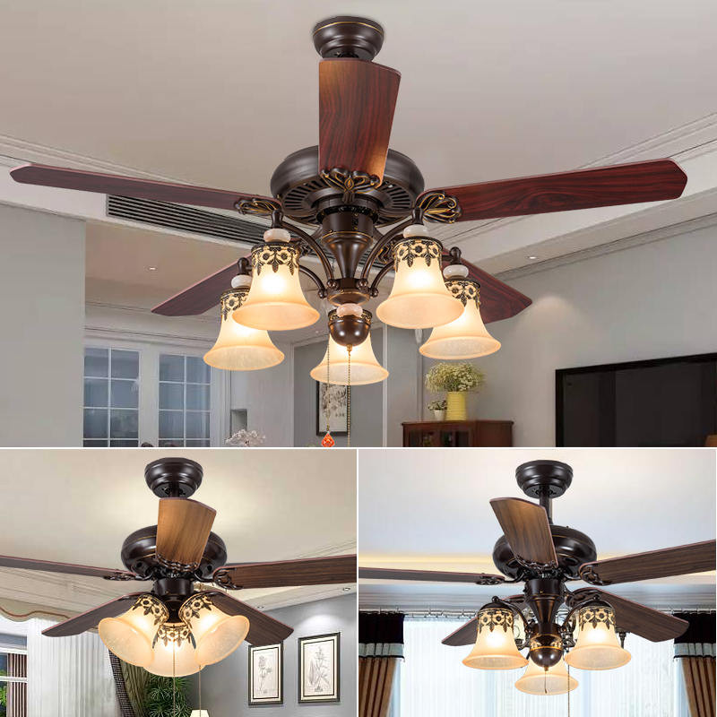 Usd 194 50 American Country With Fan Chandelier Retro Dining Room Living Room Ceiling Fan Lights Simple Home With Led Electric Fan Wholesale From China Online Shopping Buy Asian Products Online