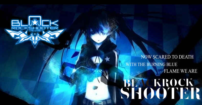 Anime BLACK ROCK SHOOTER BRS Light Wired Mouse USB Laptop Mouse Computer