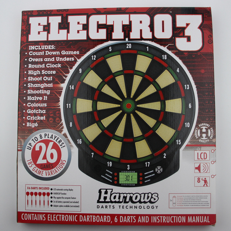 Indoor Sport Electronic Dart Board Dartboard Set 15 Inch Darts