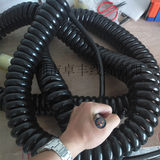 3 core national standard 4 square PU bright surface spring cable, large mechanical high power 380V spiral wire