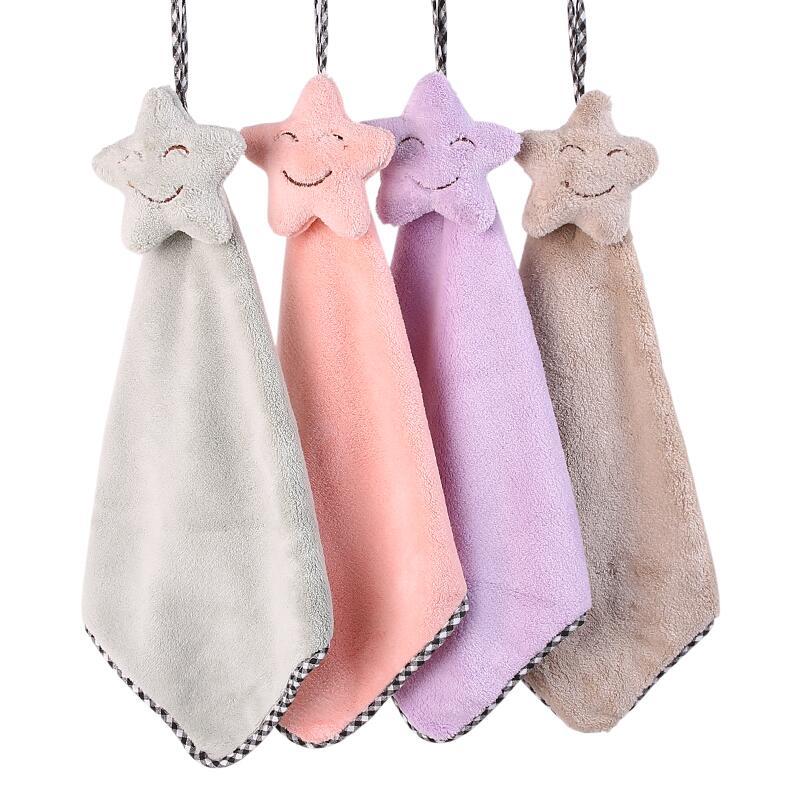 擦手巾挂式可爱韩国超强吸水插手巾加厚全棉不掉毛卫生间厨房抹布