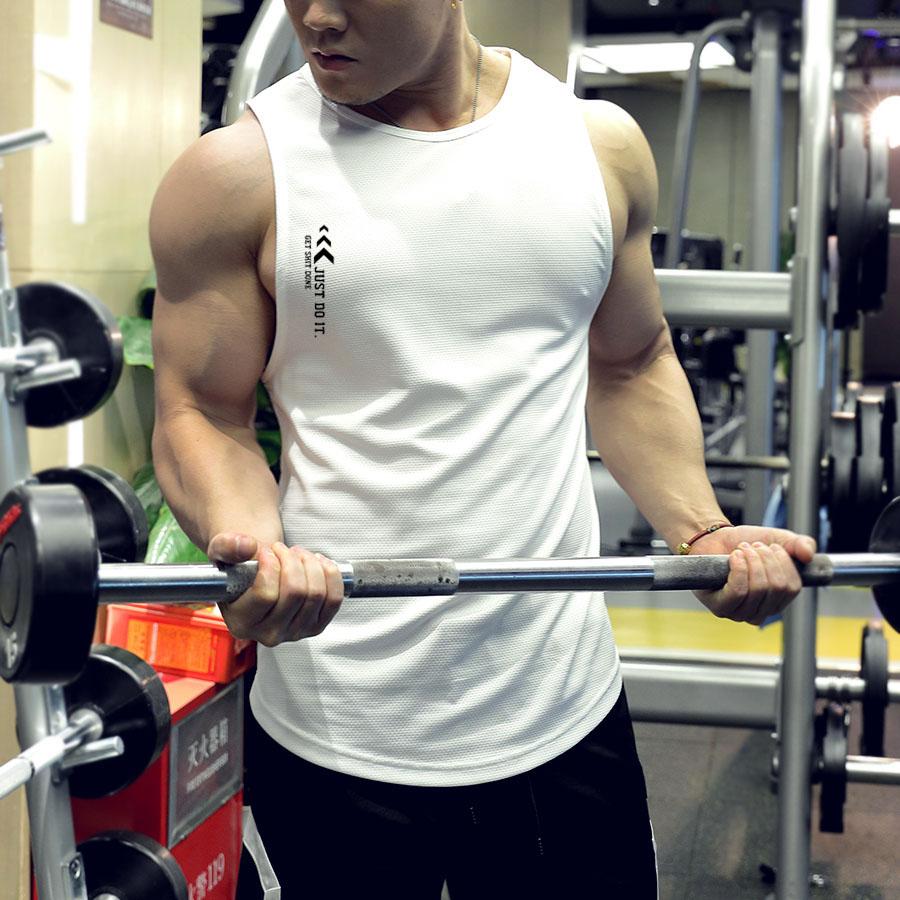 无袖健身衣速干篮球男宽松肌肉吸汗教练训练背心运动上衣服定制夏
