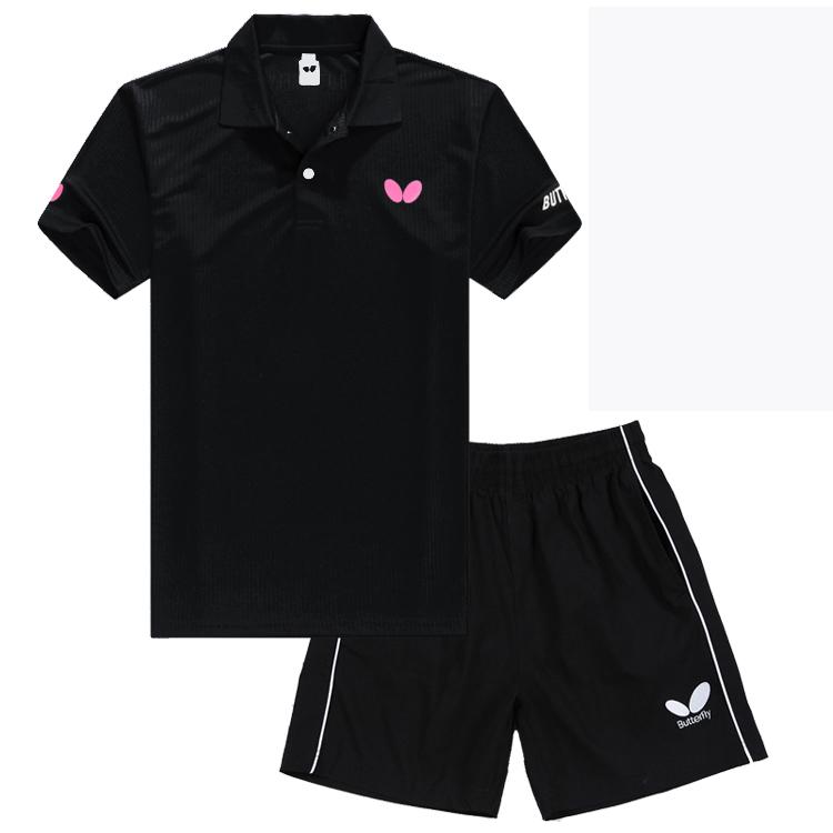 Новый быстросохнущие воздухопроницаемый настольный теннис костюм мужской лето короткий рукав движение конкуренция команда служба система настольный теннис одежда