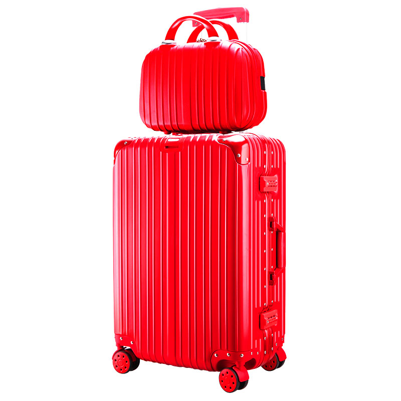 Wedding Red [aluminum Frame Plus Cosmetic Bag]