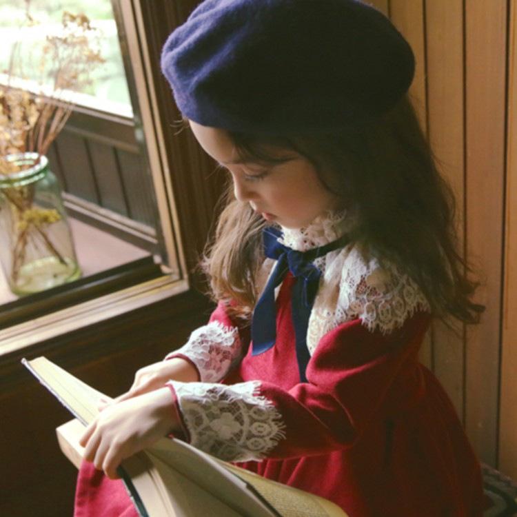 韩国生日礼服2020超洋气蕾丝加绒正版女童裙童装连衣裙公主长袖潮