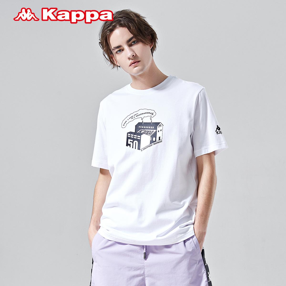 Kappa卡帕男款休闲短袖运动印花T恤夏季半袖|K0912TD69