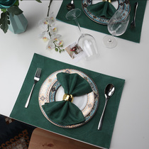 New fabric Dining mat modern simple sample room Western style Mat American Nordic
