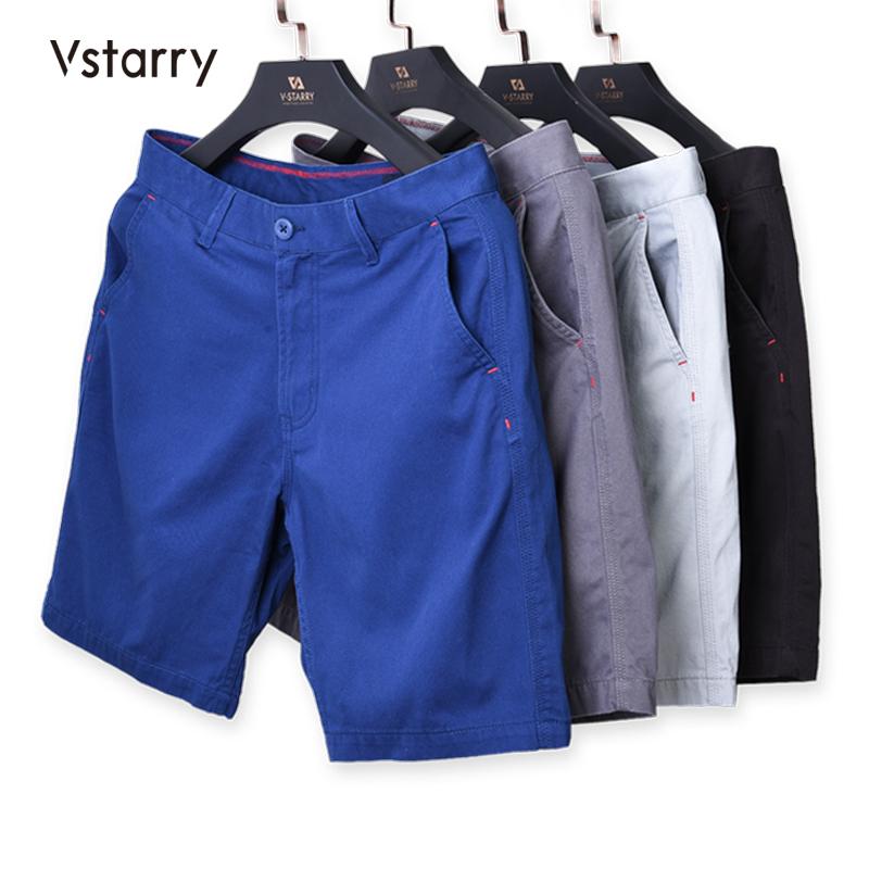 VSTARRY 男士夏季纯棉5分裤
