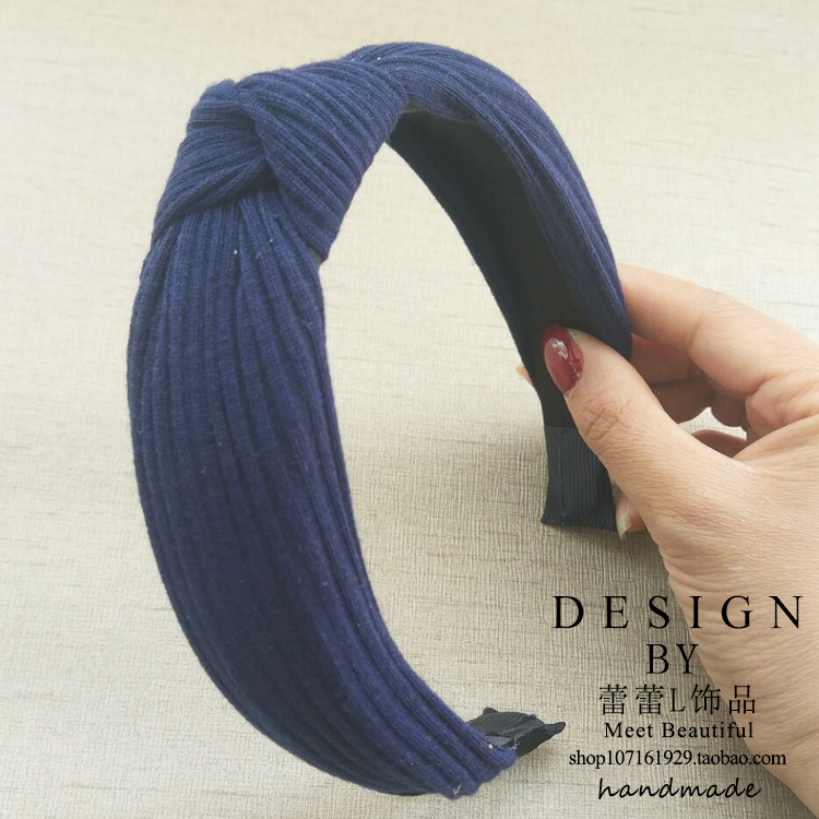 TRANSPARENT 96 NAVY BLUE KNIT HEADBAND