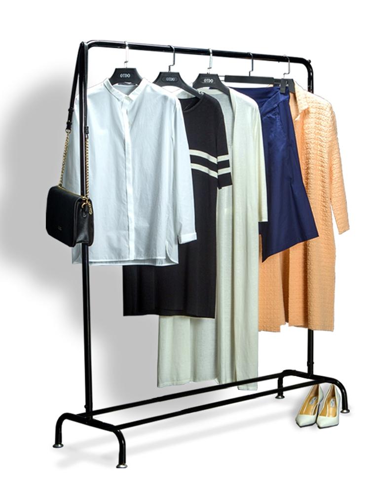 Drying racks floor single rod hanger indoor bedroom clothes rack drying  racks simple clothes drying pole folding rack