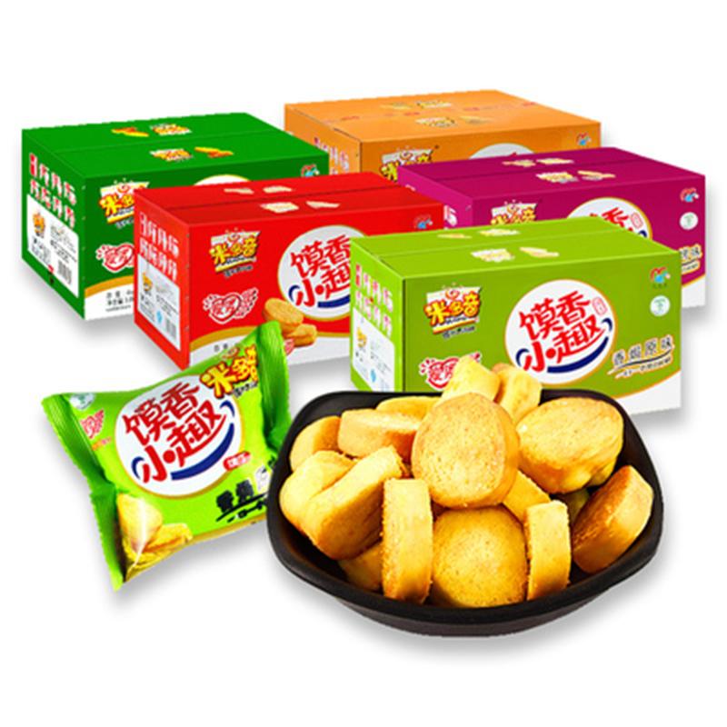 【米多奇】香烤馍丁片30包共750g整箱