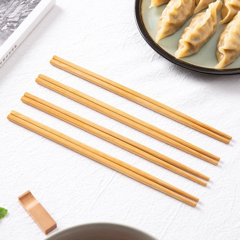 防滑木质天然竹筷子10双装