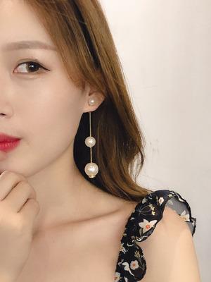 珍珠耳环女气质长款流苏吊坠韩国新款耳坠网红同款高级感耳钉