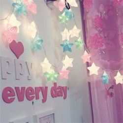 led star small lights flashing lights string children's tent birthday decoration room dormitory hanging bed decoration battery type