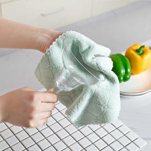 超值4条装 珊瑚绒超大加厚洗碗布