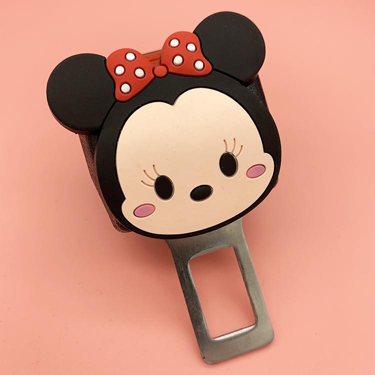 Car safety lead car belt 揷 piece extension card keying car female cartoon plug universal cute