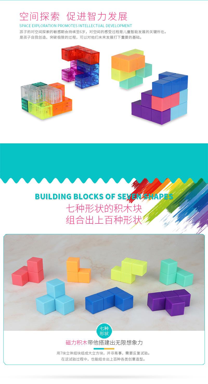永骏磁力积木魔方索玛立方体俄罗斯方块积木立体七巧板鲁班磁积木详细照片