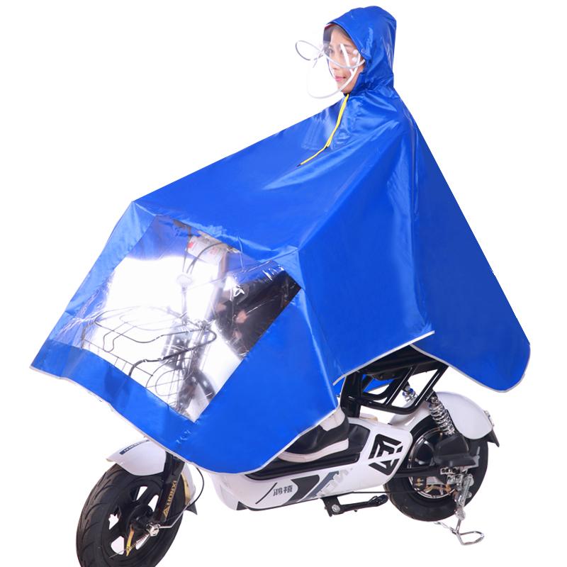 电瓶车雨衣 单人加大加厚雨披电动车男女成人防水面罩自行车雨衣_领取3元天猫超市优惠券