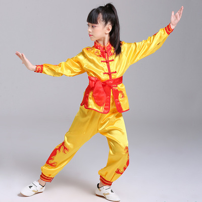 Boys Martial arts Kungfu & Tai-Chi Uniforms for Girls Children drum clothing primary school students Chinese Kung Fu youth training clothing boys and girls children martial arts performance clothing