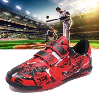 Professional baseball shoes, softball shoes, children's baseball wear-resistant non-slip rubber spikes, game shoes, red Velcro, men's and women's sneakers