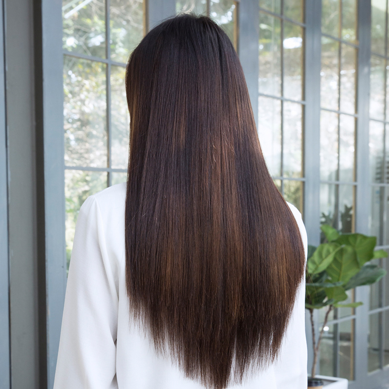 Real Hair Hair Extension Hair Extension Wig Film Female Thick
