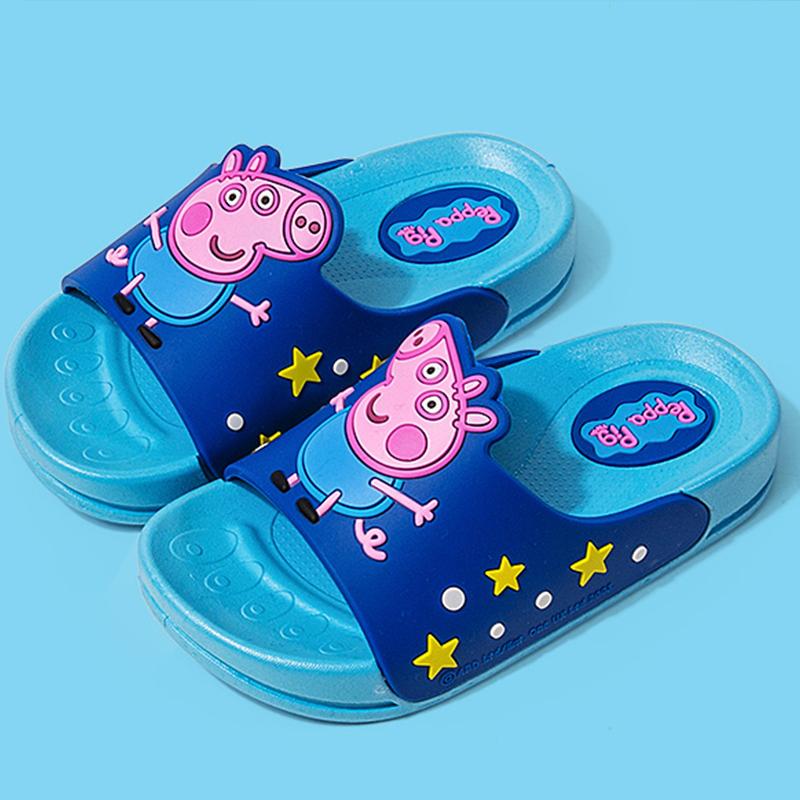宝宝拖鞋夏季1-3岁2居家室内软底防滑带后跟婴幼儿凉拖女童洞洞鞋