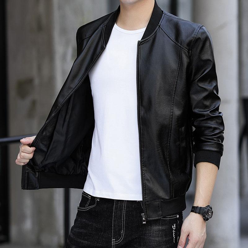 【顺丰包邮】新款皮衣加绒加厚毛领外套