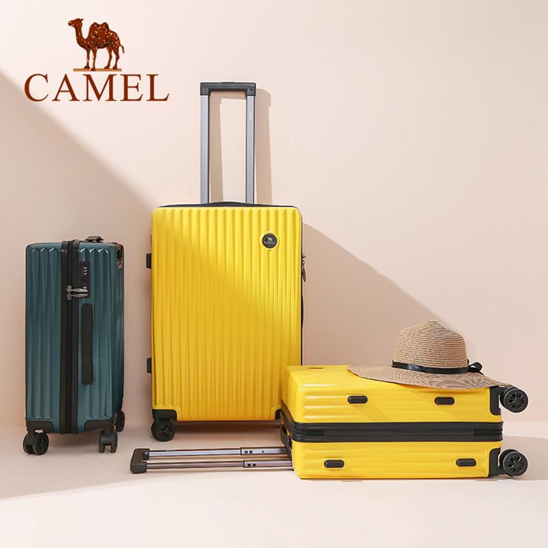骆驼旅行箱行李箱小型铝框20拉杆箱万向轮24寸女男学生密码皮箱子
