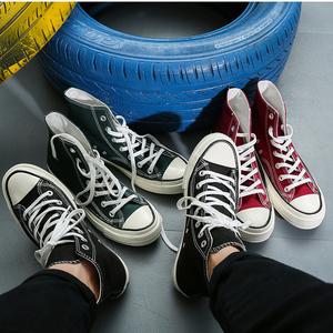 Hàn Quốc ulzzang giày vải nam cao giày giày 1970s cao đẳng gió Harajuku người đàn ông của đường phố đen lươi giày thủy triều