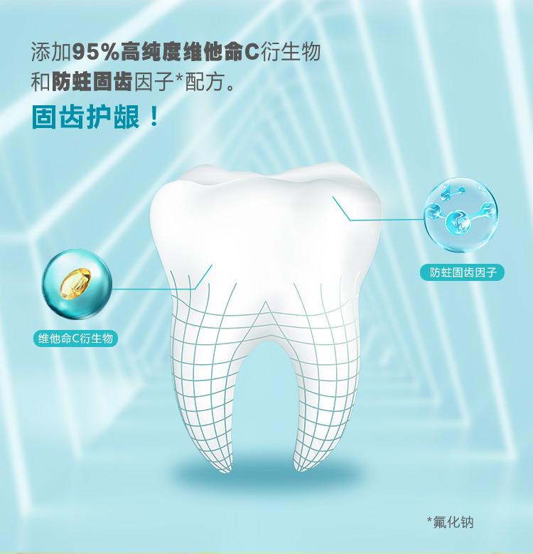 纳爱斯牙膏165g*2支/45g/90g/220g维他命c鲜橙薄荷香型牙膏