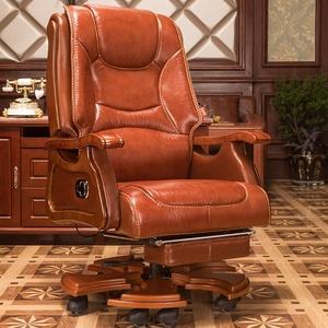 老板椅真皮家用可躺按摩牛皮大班椅座欧式升降转椅办公椅子电脑椅
