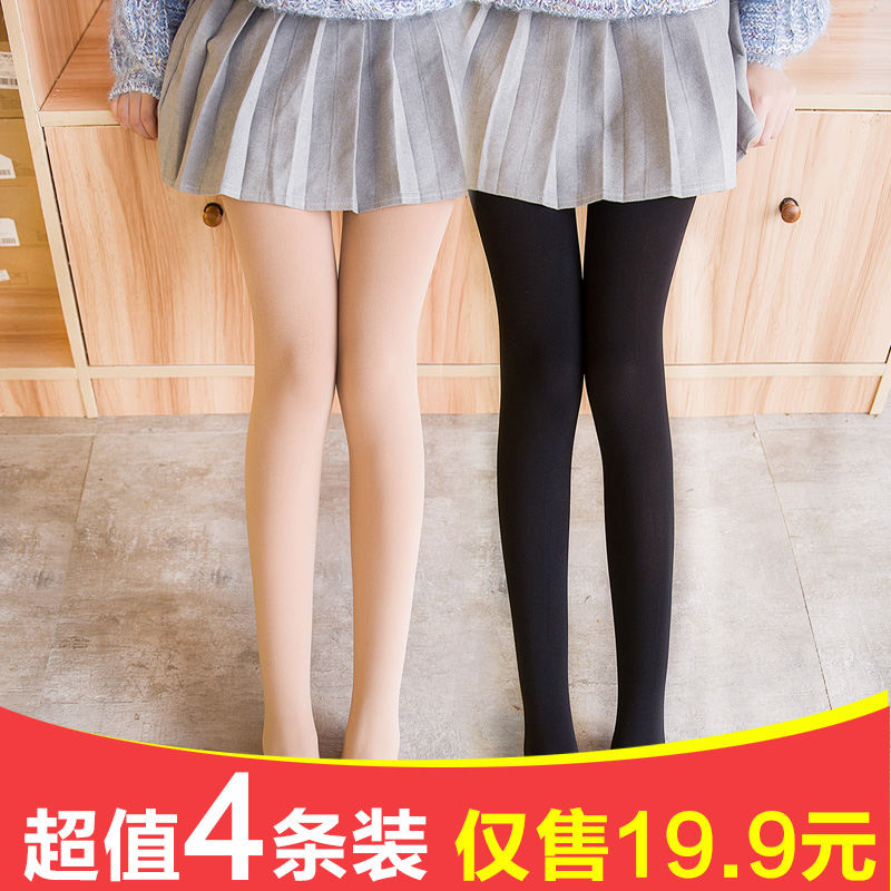 Stockings female spring and autumn models winter pantyhose women's thick pressure pants anti-hook beautiful leg socks bottoming socks meat color thin section